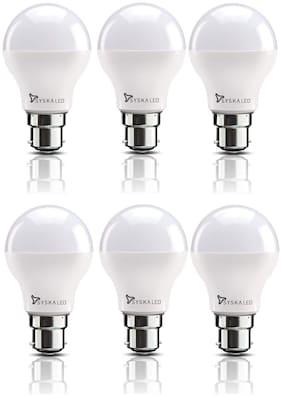 Syska SSK-SRL-12W B22 12-Watt LED Bulb (Pack of 6, Cool Day Light)