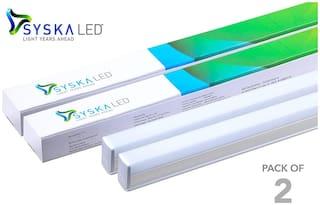 Syska T5 18-W LED Tubelight (Pack of 2, Cool White)