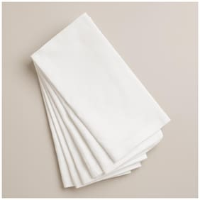Table Napkin Set White(Set of 6 Pcs)