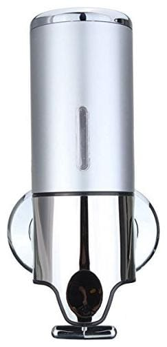 Tagve Wall Mounted Metal and Plastic Liquid Soap Shampoo Dispenser for Home Office Bathroom and Kitchen Sink;450 ml