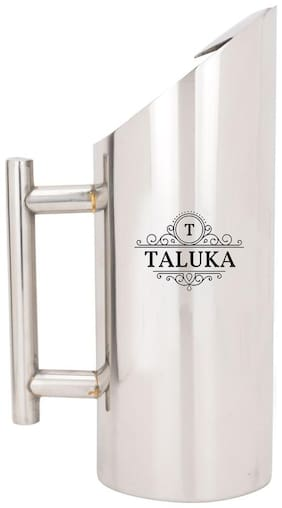 Taluka (27.17 cm (10.7 inch) x 10.16 cm (4 inch) approx) Stainless Steel Jug pitcher with Pipe Handle Hotel Bar ware Restaurant Use CAPACITY :- 1500 ML WEIGHT 620 GRAMS