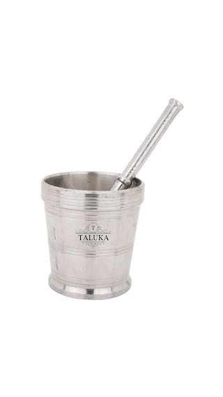 Taluka (3.2 x 3 ) Stainless Steel Mortar and Pestle /Simple Mortar And Pestle Crushing and Grinding Pestle Length :- 8 inch Kitchen Tools
