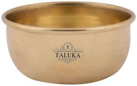 Taluka (8.25 cm (3.25 inch) X 3.81 cm (1.5 inch) Approx) Brass Round Bowl Katori Serving Purpose Brass Serveware Home Hotel Good Health Benefits (Bronze)