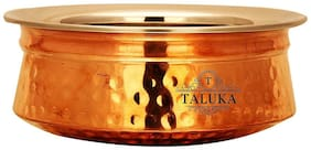 Taluka (4.2 x 1.5 ) Handmade Traditional Best Quality Pure Copper Handi / Pot Steel Inside Capacity :- 200 ml Restaurant Ware Hotel Ware Home Ware Gift Item Weight :- 230 Grams