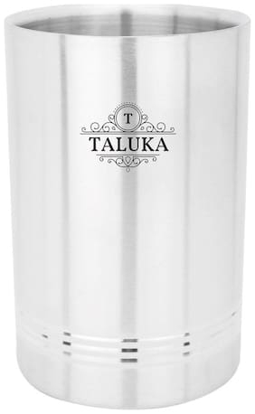 Taluka (12.19 cm (4.8 Inch) x 19.05 cm (7.5 Inch) approx ) Stainless Steel Quality Made designer Wine Cooler Champagne Bucket Wine Bucket Bar accessories