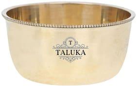 Taluka (10.16 cm (4 inch) x 5.08 cm (2 inch) approx) Brass Round Bowl Katori Serving Purpose Brass Serveware Home Hotel Good Health Benefits