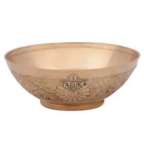 "Taluka ( 5 x 2"" ) Round Handmade Embossed Brass Bowl Serving Decoration Tableware Home Hotel Gift Purpose"