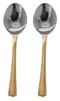 Taluka 8 Copper Serving Spoons Set of 2 Indian Dinnerware Serveware Restaurant Hotel Gift Item