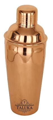 Taluka Copper Polish Steel Cocktail Wine Shaker 750 ML - Mixing & Serving Wine Cocktail Bottle Bar Hotel Restaurant Home