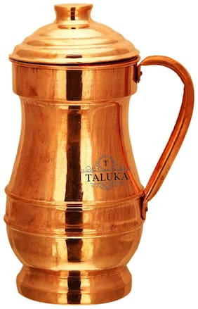 Taluka Handmade Pure Copper Jug;1500 ml For Drinking Water Storage;(4.5 x 10 inch)