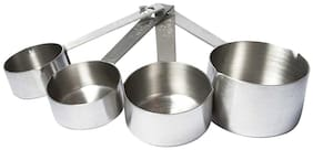 Taluka Set Of 4 Heavy Measuring Cup And 4 Measuring Spoon