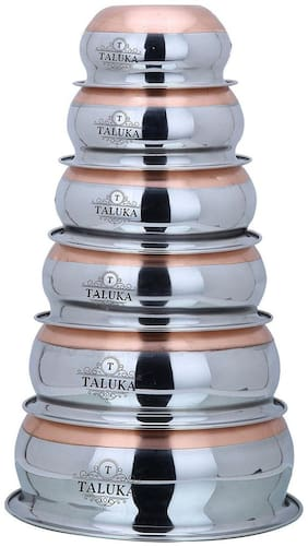 Taluka Stainless Steel Copper Bottom Handi Pot 6 Piece Set