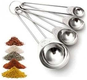 Taluka Stainless Steel Long Lasting Measuring Spoons Set of 4 for Measuring Dry and Liquid Ingredients