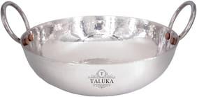 Taluka Stainless Steel Hammered Kadai Kadhai Serving Wok for Kitchen Cookware Restaurant Home Hotel 3 L
