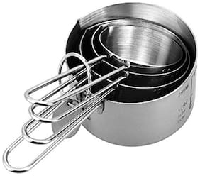 Taluka Stainless Steel Long Lasting Measuring Cup Set of 4 for Measuring Dry and Liquid Ingredients