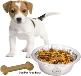 Taluka Stainless Steel Dog Bowls, Lovely Pet Food Water Drink Dishes Feeder for Cat Puppy Dog 750 ml Bowl