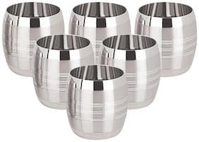 Tanishk 3D Designer Stainless Steel Juice Glasses-Set Of 6