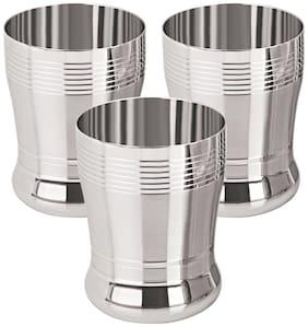 Tanishk 3D Designer Stainless Steel Water Glasses-Set Of 3