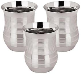 Tanishk 3D Designer Stainless Steel Glassware-Set Of 3