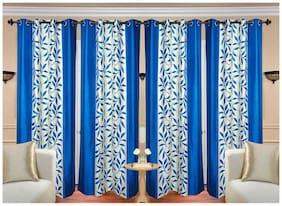 Tanishka High Quality Eyelet Door Curtains - 4x7 ft (Set Of 4)
