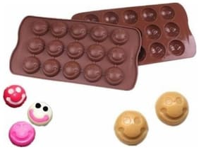 TASHKURST Silicone Chocolate Molds 15 smile Cake Make Candy Decoration Baking Cookie For Kitchen Baking Tools -1pc - Cup Mould (Pack of 1)