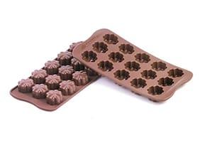 TASHKURST Silicone Chocolate Molds flower Cake Make Candy Decoration Baking Cookie For Kitchen Baking Tools - 1pc