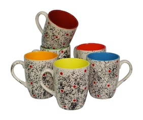 Tashveen Articles Ceramic Coffee Mugs Set of 6