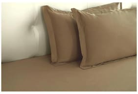 Taupe Biosense Solid Pillow Covers (Pillow Cover (2 Pc Set)