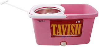 Tavish Floor Cleaning Mop Bucket Easy Spin Mop 360 deg Rotating
