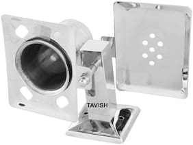 Tavish Stainless Steel Wall Mount Soap, Brush & Toothpaste Holder