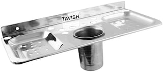 Tavish Stainless Steel Soap and Toothpaste Holder Dishes 2 Soap and 1 Toothpaste Holder