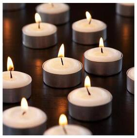 Xclusive Plus Tealight Candles Plain Pack of 50