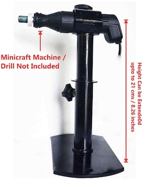 TechDelivers Fixed Type Horizontal Stand for Grinding or Goldsmiths work (Drill Machine Not Included)