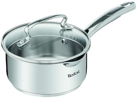 Tefal Silver Stainless Steel cm Sauce Pan With Lid