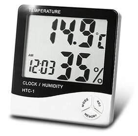 Temperature-Humidity And Time Alarm Clock