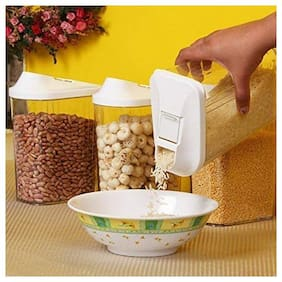 Teneza Flow Storage Jar 750ml 6 pcs Set, Idle for Kitchen- Storage Box Lid Food Rice Pasta Container