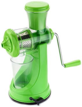 Teneza Hand Juicer for Fruits and Vegetables with Steel Handle Vacuum Locking System