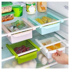 Teneza Set of 4 Fridge Rack;Fridge Storage;Rack;Shelves;Fridge Tray Plastic Wall Shelf