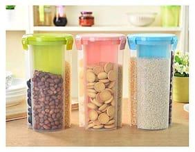 TENEZA 1200 ml Assorted Plastic Container Set - Set of 3