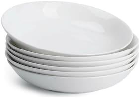 Teocera 22 Ounce Porcelain Pasta Bowls, Salad Bowls Set, Shallow Bowls - Set of