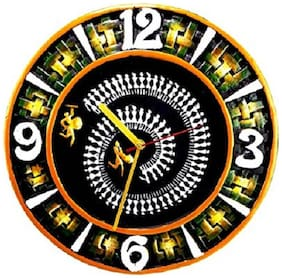 HIMALAYAN RANGE Wood Analog Wall clock ( Set of 1 )