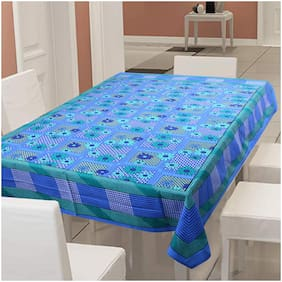 Texstylers 100% Cotton 144 TC Table Cloth/Cover -Pack of 1