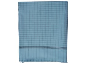 Texstylers 100% Cotton Checkered Soft Feel Ac Blanket(Green)