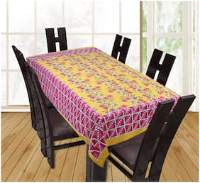 Texstylers 100% Cotton Screen Print 6 Seater Dining Table Cover