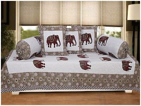 TEXSTYLERS Cotton Animal Single Size Diwan Sets - Pack of 6