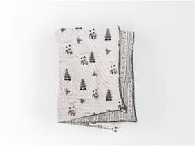 TEXSTYLERS Cotton Reversible Winter Block Print Jaipuri Single Bed Quilt/Razai With Filling (Pack of 2)