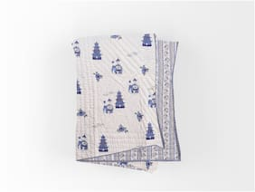 Texstylers Cotton Winter Printed Jaipuri Single Quilt With Filling (Pack Of 1)