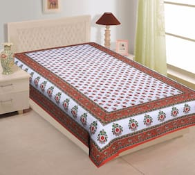 TEXSTYLERS Cotton Printed Single Size Bedsheet 200 TC ( 1 Bedsheet Without Pillow Covers , Multi )