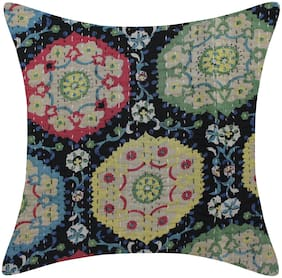 TEXSTYLERS Pure Cotton Kantha Work Jaipuri Cushion Cover(Pack of 6)