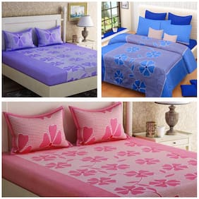 Teyja Collections Poly cotton bedsheet combos